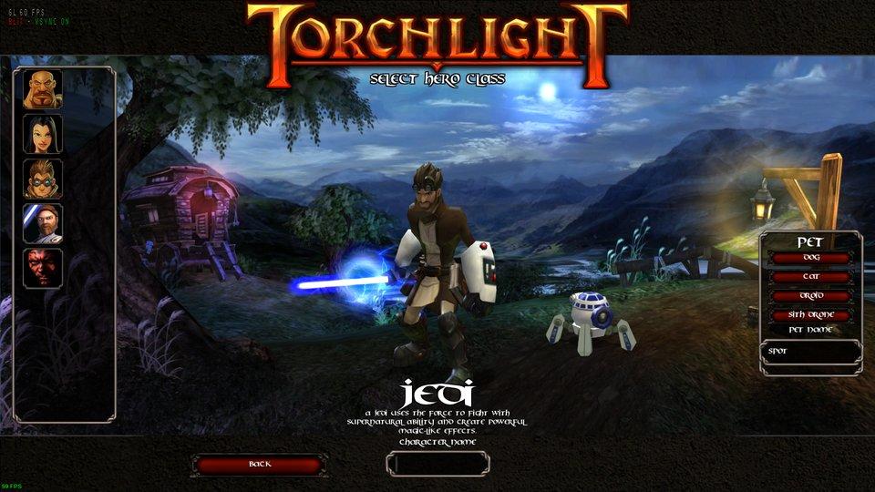 Torchlight 1 Mod Spotlight: Jedi & Sith classes mod Repack